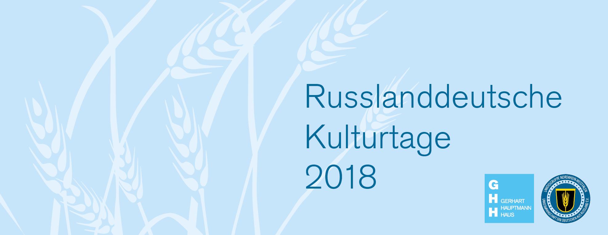 Russlanddeutsche Kulturtage 2018 Landsmannschaft der Deutschen aus Russland LmDR Nordrrhein Westfalen Stiftung Gerhart Hauptmann Haus
